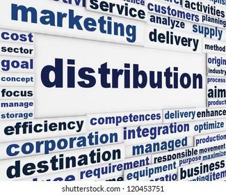 Distribution marketing message background. Merchandising poster design