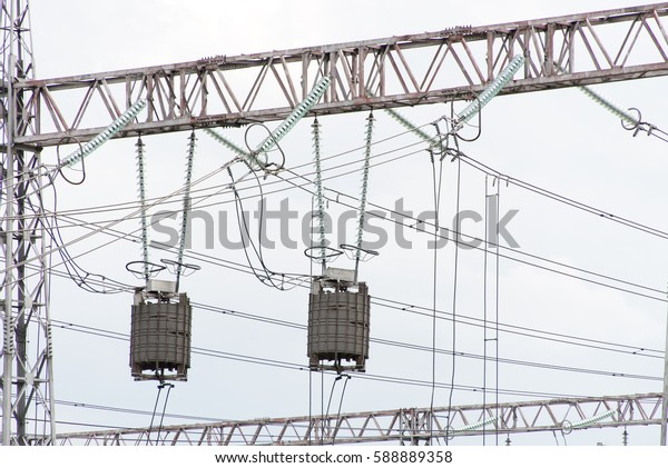 Distribution substation from the high-voltage network in Bulgaria.