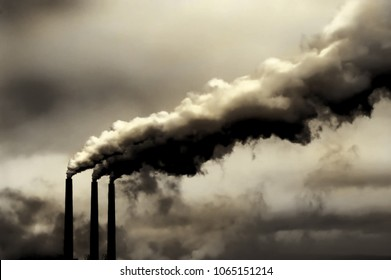 Disturbing Global warming image of american Power Plant Killing the planet