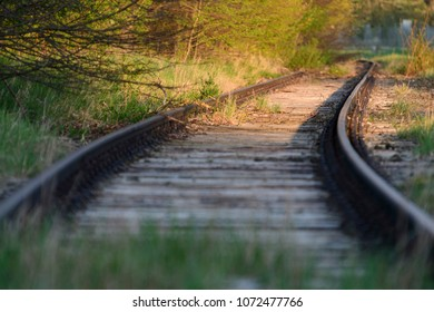 Disused railway tracks in Maisach in Bavaria