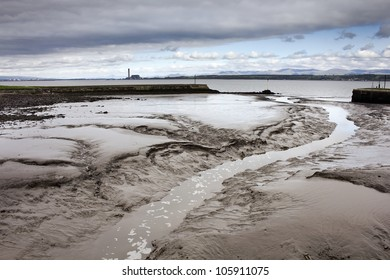 Disused, silted up harbour at Bo'ness (Borrowstounness) in the Falkirk region of Scotland, UK.