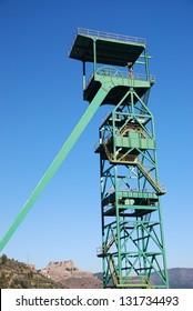 Disused tower of the potash mine of Cardona, Catalonia, Spain