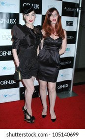 Dita Von Teese and Ava Garter at the Britweek Designer of the Year Fashion Show and Awards presented by Genlux Magazine. Pacific Design Center, West Hollywood, CA. 05-02-09