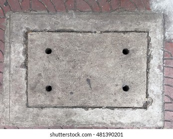 Ditch cover on a pavement