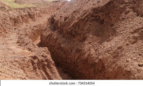 ditch, excavation