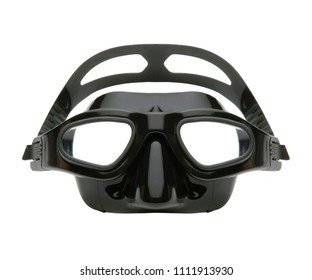 dive mask isolated, siliconic plastic