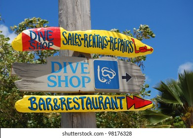 Dive shop sign