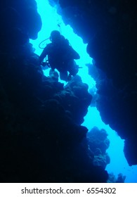 Diver in Canyon, dahab