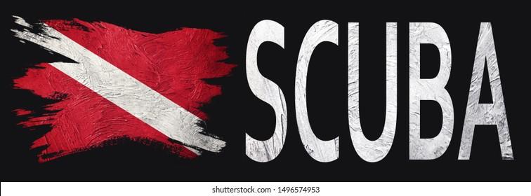 Diver Down Flag, Vintage Style Scuba flag.