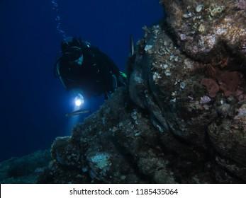 Divers at the Maddalena Archipelago, Sardegna, Italy