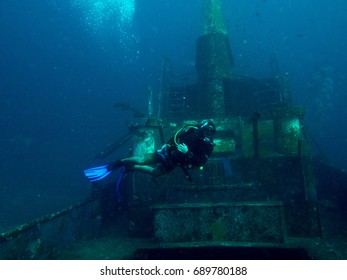 Divers on a wreck