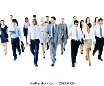 Diverse Business People Moving Forward Concept