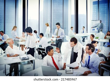 Diverse Business People Working in the Office