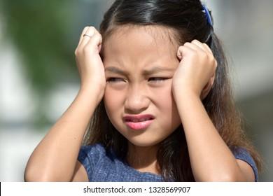 Diverse Girl Under Stress