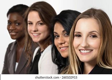Diverse group of businesswomen.