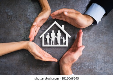 Diverse Group Of People. Home Property Safety Concept