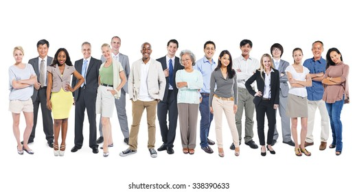 Diverse Group People Multiethnic Standing Concept