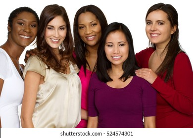 Diverse group of women.