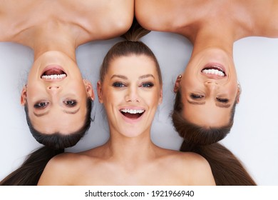 Diverse group of women isolated over background