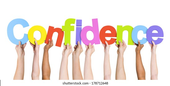 Diverse Hands Holding Confidence