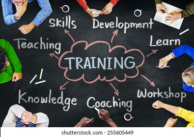 Diverse People Coaching Training Knowledge Concept