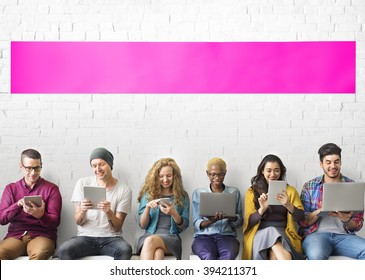 Diverse People Electronic Devices Concept