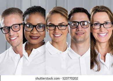 Diverse People in Eyeglasses