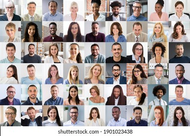 Diverse People Face Or Avatar Portrait Collage - Shutterstock ID 1901023438