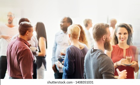 Diverse people at the office party - Shutterstock ID 1408351031