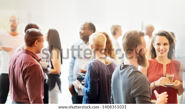 Diverse people at the office party