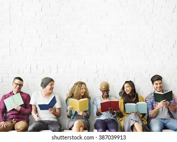 Diverse People Reading Books Study Concept