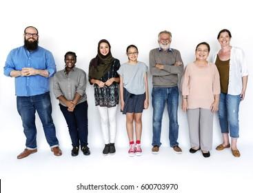 Diverse People Together Teamwork Partnership