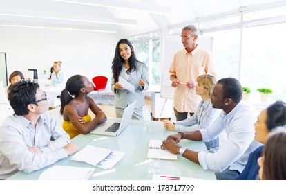 Diverse World Business People at Table in Office