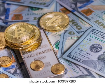 Diversified financial portfolio including Bitcoin, Gold, Silver and Cash.