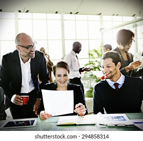 Diversity Business People Discussion Meeting Board Room Concept