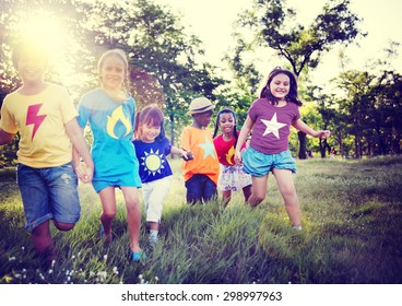 Diversity Children Friendship Happiness Playful Concept