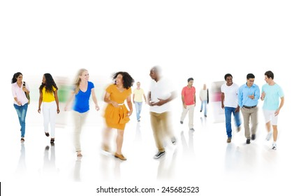 Diversity Community Casual People Happiness Discussion Concept