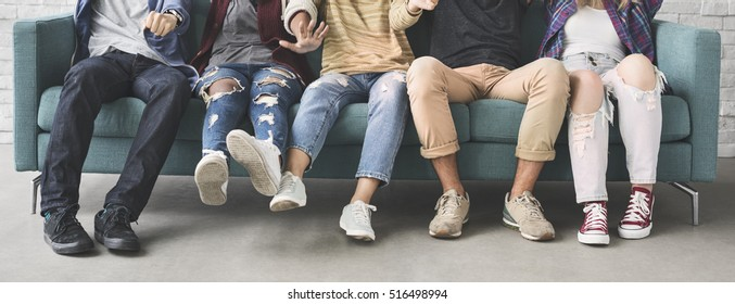 Diversity Friends Sitting Sofa Concept