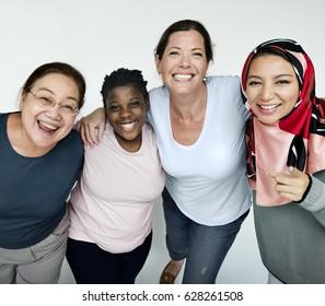 Diversity Group of Women Happiness Studio Portrait