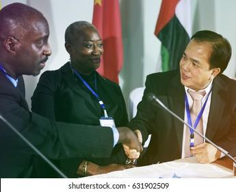 Diversity International People Handshake Agreement Collaboration