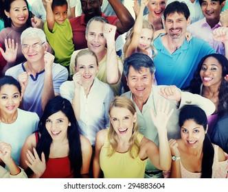 Diversity People Celebration Happiness Teamwork Concept
