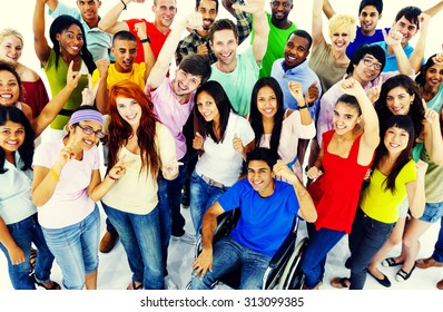Diversity People Crowd Friends Communication Concept