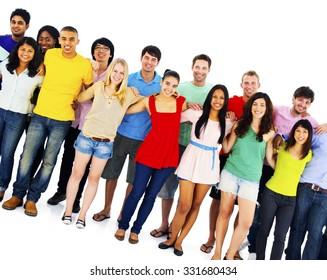 Diversity People Crowd Friends Communication Concept