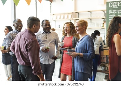 Diversity People Party Brunch Cafe Concept