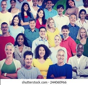 Diversity People Teamwork Community Support Cheerful Concept