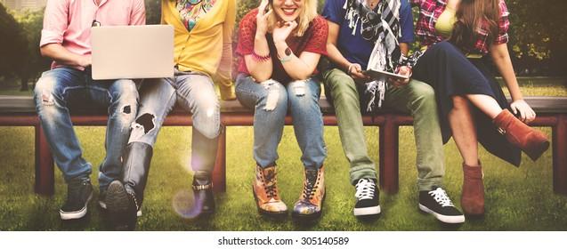 Diversity Teenagers Friends Friendship Team Concept