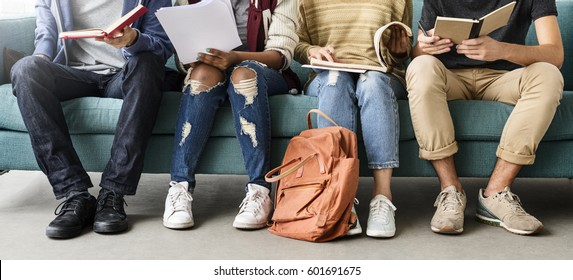 Diversity Teens Hipster Friend Education Concept