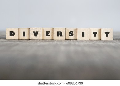 DIVERSITY word made with building blocks
