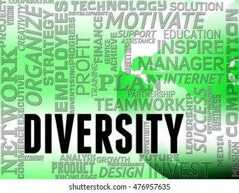 Diversity Words Indicating Mixed Bag And Different