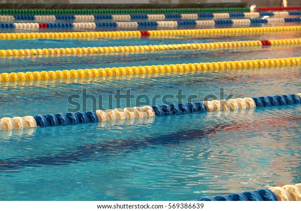 Dividers Paths Big Outdoor Swimming Pool Stock Photo (Edit ...